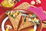 Picture of Spinach and Mushroom Tortilla Cones&nbsp;- Item No.&nbsp;448-spinachtortillacones