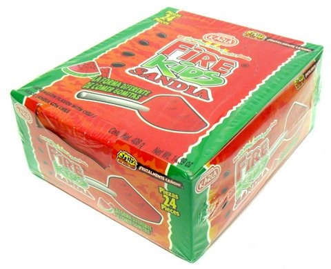 Picture of Fire Kids Sandia Hot Jelly Lollipops (14.39 oz) 24 pieces - Item No. 44911-00637