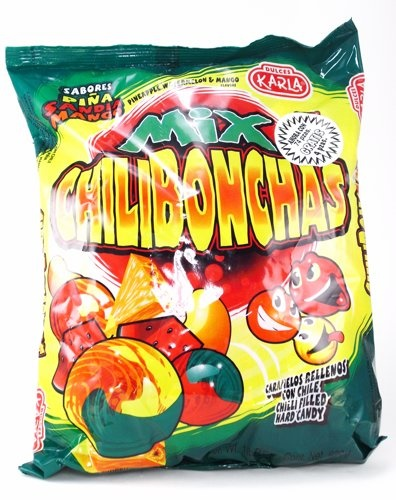 Picture of Chilibonchas Mix - Pineapple Watermelon Mango - Chilli Filled Hard Candy - Item No. 44911-00652