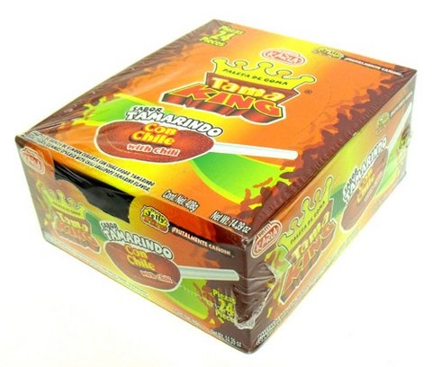 Picture of Tama King Gummy Tamarind with Chili Lollipops (14.39 oz) 24 pieces&nbsp;- Item No.&nbsp;44911-44118
