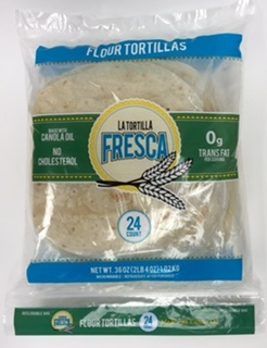 Picture of Flour Tortillas 8&quot; Size by Porkyland - Two Dozen Fajita Size Flour Tortilla in Pack&nbsp;- Item No.&nbsp;44946-00179