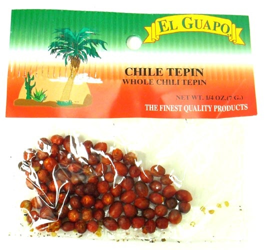 Picture of Dried Chile Tepin Whole Chili Pods - Chiltepin 1/4 oz - Item No. 44989-00541