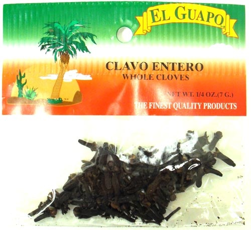 Picture of Whole Cloves - Clavo Entero 1/4 oz&nbsp;- Item No.&nbsp;44989-33010