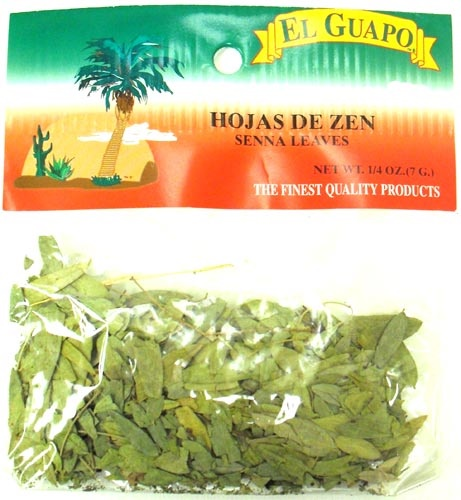 Picture of Senna Leaves - Hojas de Zen - Hojasen 1/4 oz&nbsp;- Item No.&nbsp;44989-33089