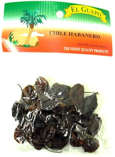 Picture of Dried Chile Habanero Chili Pods 0.5 oz - Item No. 44989-33209