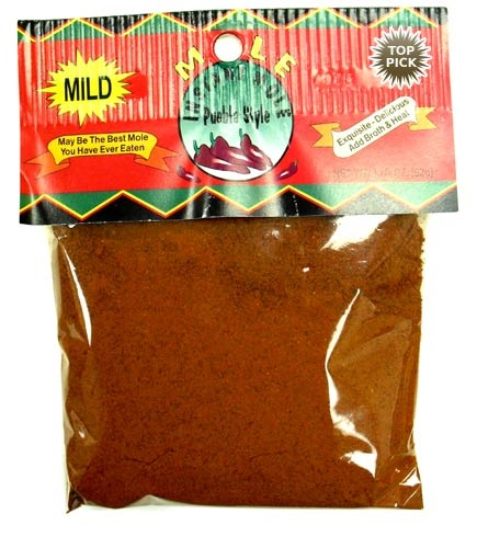 Picture of Mole Poblano - Ground Mole Puebla Style Mild by El Guapo 3.25 oz - Item No. 44989-33215