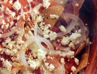 Picture of Red Chicken Chilaquiles Stew - Item No. 476-red-chicken-chilaquiles-stew