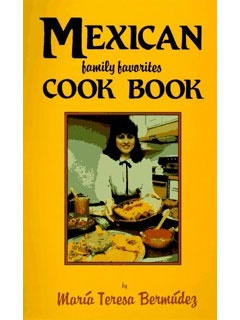 Picture of Mexican Family Favorites Cook Book (Cookbooks and Restaurant Guides)&nbsp;- Item No.&nbsp;50043