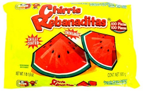 Picture of Chirris Rebanaditas Watermelon with Chilli Hard Candy 100 pieces&nbsp;- Item No.&nbsp;502225-960068