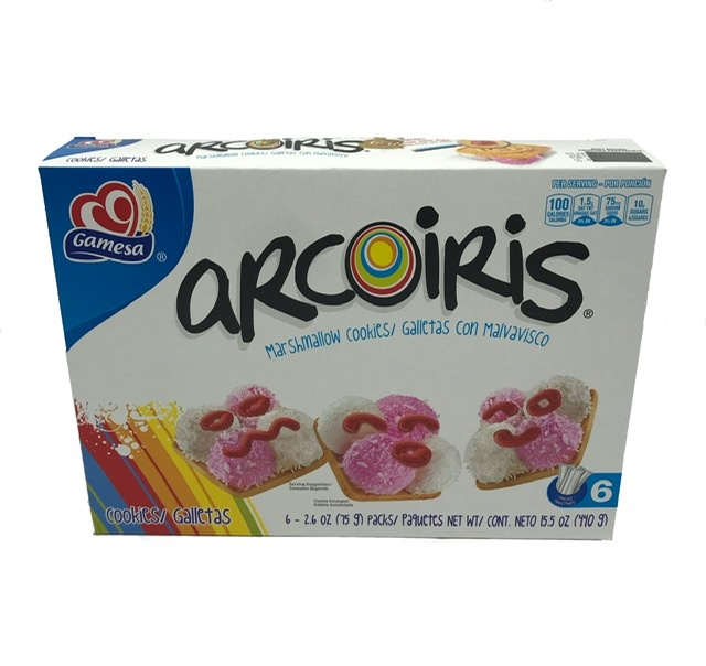 Picture of Gamesa Arcoiris - Rainbow Cookies 15.5 oz - Item No. 5026