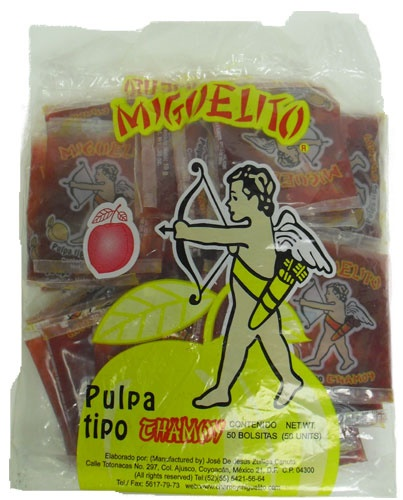 Picture of Miguelito Chamoy de Agua (Pulp) 50 pieces&nbsp;- Item No.&nbsp;503001-189017