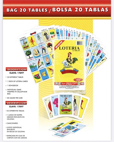 Picture of Loteria professional en caja 20 tablas 1 unit - Item No. 50409-220083