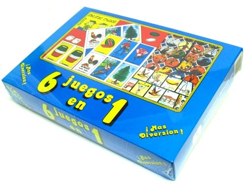 Picture of 6 Juegos en 1 Juego para Ninos 1 unit&nbsp;- Item No.&nbsp;50409-220458