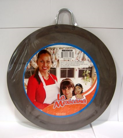 Picture of Comal de Fierro Redondo#3 / Round Skillet Comal #3 - Metal Plate Griddle&nbsp;- Item No.&nbsp;50409-87118