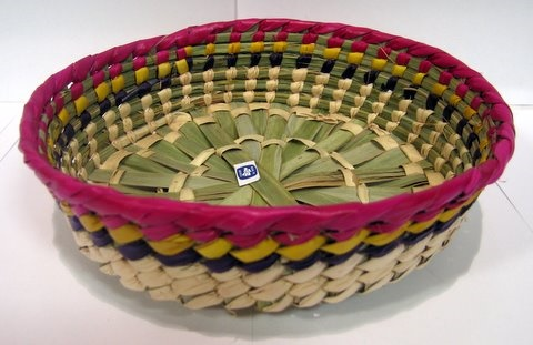 Picture of Tortillero de Palma chico / Small PalmTortilla Warmer Basket - Item No. 50409-87144