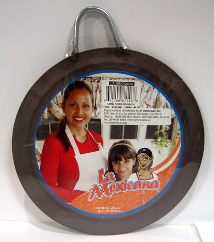 Picture of Comal de fierro Redondo #1 / Round Skillet Comal #1 Metal Plate Griddle - Item No. 50409-87146
