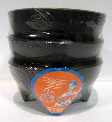 Picture of Molcajete Plastico Chico / Salsa Bowls - Small Molcajete -  3 / 8 oz bowls - Item No. 50409-87150