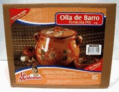 Picture of Olla de Barro Frijolera sin Plomo / Lead Free Clay Bean Pot with lid - Item No. 50409-87155