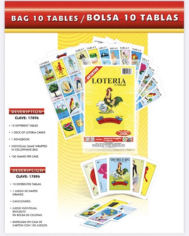 Picture of Loteria Mexicana 10 tablas - Mexican Bingo Game - 10 playing cards - Item No. 50409-87175