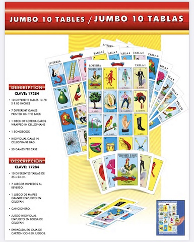 Picture of Juego de Loteria Gigante 15&quot; x 9.5&quot; - 37.5 cms x 23.5 cms&nbsp;- Item No.&nbsp;50409-87318