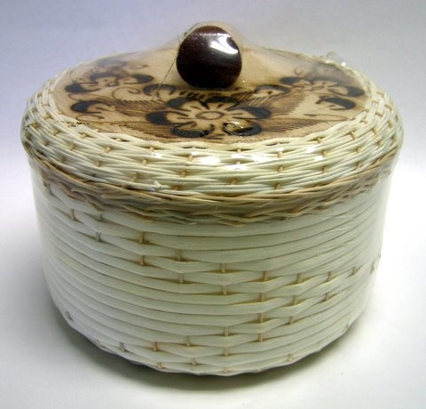 Picture of Tortillero de Mimbre Pirograbado / Burned Wicker Tortilla Warmer&nbsp;- Item No.&nbsp;50409-87320