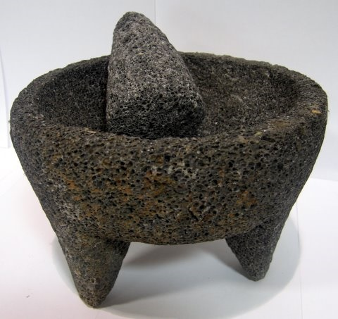 Picture of Black Stone Mortar & Pestle Molcajete de Piedra Negra - Item No. 50409-87421
