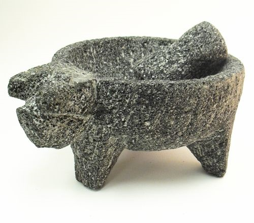 Picture of Stone Mortar Molcajete with Pig head - Item No. 50409-88659