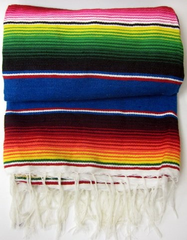 "Picture of Sarape Mexico Grande - Large Colorful Mexican Blanket - 47"" x 77"" - Item No. 50409-sarape"