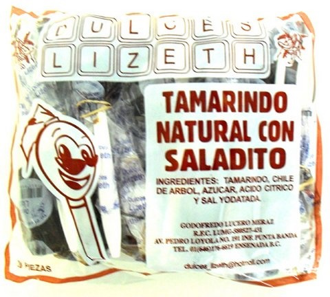 Picture of Cuchara Lizeth Tamarindo Natural con Saladito 20 pieces - Item No. 51386-01123