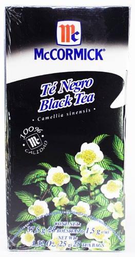 Picture of McCormick Black Tea - Camellia Sinesis (1.32 Oz.) 25 Tea Bags&nbsp;- Item No.&nbsp;52100-73718