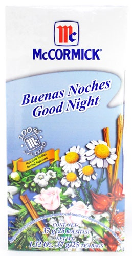 Picture of McCormick Good Night Tea  Herbal Infusion T de Buenas Noches (1.32 Oz.) 25 Tea Bags&nbsp;- Item No.&nbsp;52100-73719