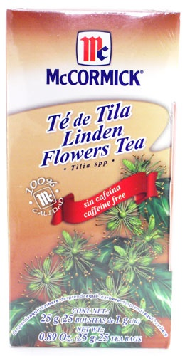 Picture of McCormick Linden Flowers Tea - Tilia Spp - Caffeine Free (0.89 Oz.) 25 Tea Bags&nbsp;- Item No.&nbsp;52100-73723