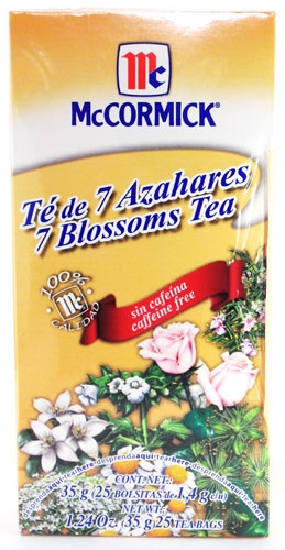 Picture of McCormick 7 Blossoms Tea - Caffeine Free (1.24 Oz.) 25 Tea Bags - Item No. 52100-73724
