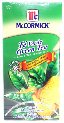Picture of McCormick Green Tea and Mango (1.23 Oz.) 25 Tea Bags - Item No. 52100-73727