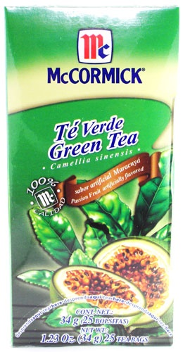Picture of McCormick Green Tea and Passion Fruit (1.23 Oz.) 25 Tea Bags&nbsp;- Item No.&nbsp;52100-73728