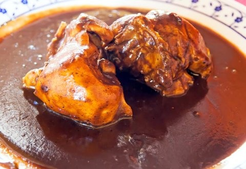 Picture of Red Mole from Oaxaca - Mole Rojo Mexican Recipe - Item No. 523-red-mole-from-oaxaca