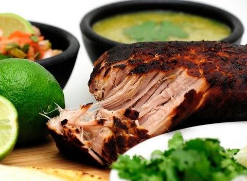 Picture of Hot Carnitas Salad Mexican Recipe- Item No.527-hot-carnitas-salad