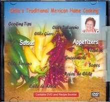 Picture of Celia's Mexican Salsas & Appetizers Recipe Booklet & DVD - Item No. 531533