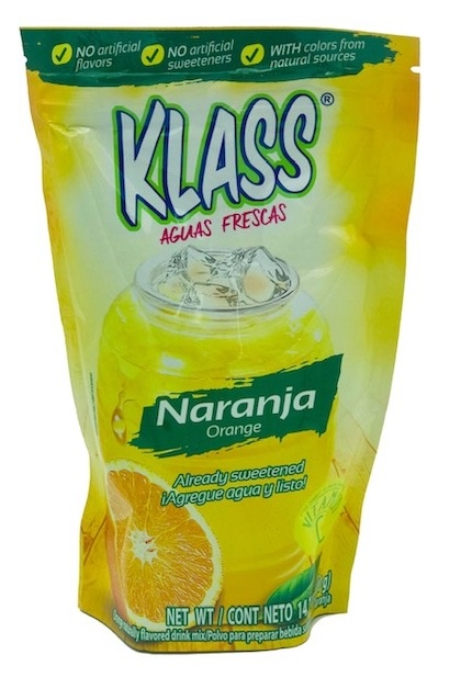 Picture of KLASS LISTO Orange Drink Mix 14.1 oz - Item No. 54177-83294