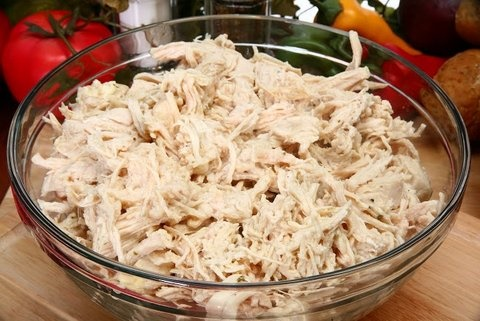 Picture of Filling for Chicken Tacos--The Purist's Way & The Cheater's Way Mexican Recipes- Item No.557-filling-for-chicken-tacos