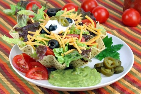 Picture of Taco Shell Salad Recipe - Item No. 575-taco-shell-salad