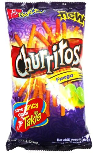 Picture of Barcel Churritos Fuego Hot Chili Pepper and Lime 9.9 oz - Item No. 57528-00858