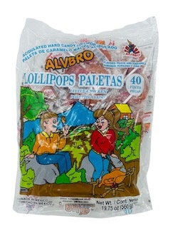 Picture of Paleta Alvbro Pollito Asado - Little Chicken Lollipops - 40 count - Item No. 5784
