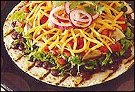 Picture of Tostadas - Grilled Santa Fe Chicken & Black Bean Tostada - Item No. 58-grilled-santa-fe-tostada