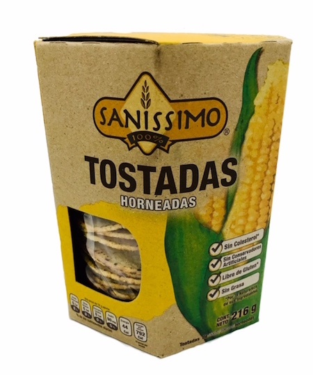 Picture of Sanissimo Oven Baked Corn Tostadas (20 count) 7.05 oz - Item No. 58480-00126