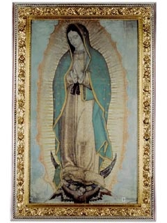 Picture of Our Lady of Guadalupe Poster - Original Size Virgin of Guadalupe - 63'' x 38.5'' - Item No. 61001
