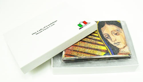 Picture of Our Lady of Guadalupe Mosaic Puzzle Cards Hand Made by Marlen&nbsp;- Item No.&nbsp;61008