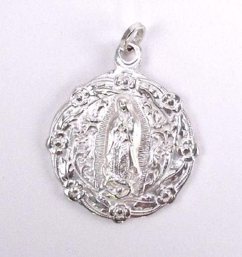 Picture of Our Lady of Guadalupe Full Body Pewter Medal - 2&quot; H x 1 3/4 W&nbsp;- Item No.&nbsp;61033