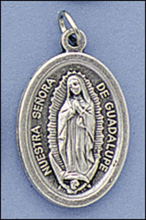 Picture of Our Lady of Guadalupe Silver Medal - Medalla Virgen de Guadalupe Plata&nbsp;- Item No.&nbsp;61034