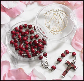 Picture of Our Lady of Guadalupe Rosary Rose Petal - Virgin of Guadalupe Rosary - Item No. 61036